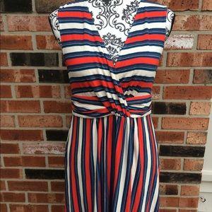 NWT Rachel Zoe striped midi dress